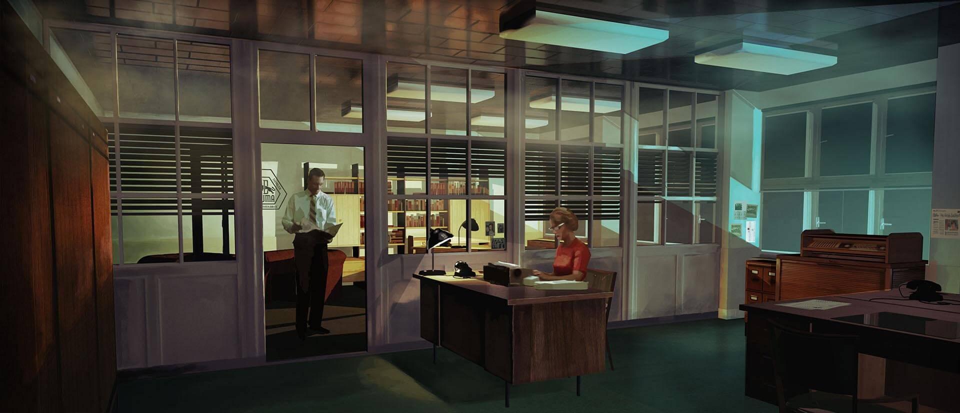 Letnany Office, Night