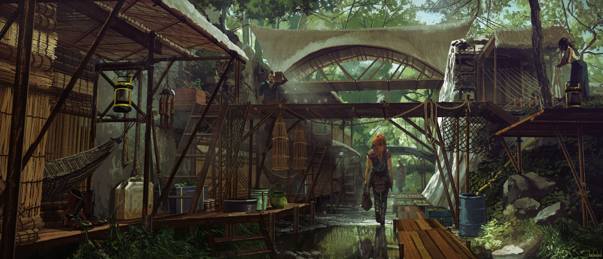 Tribes of Europa Concept Art Origines Village